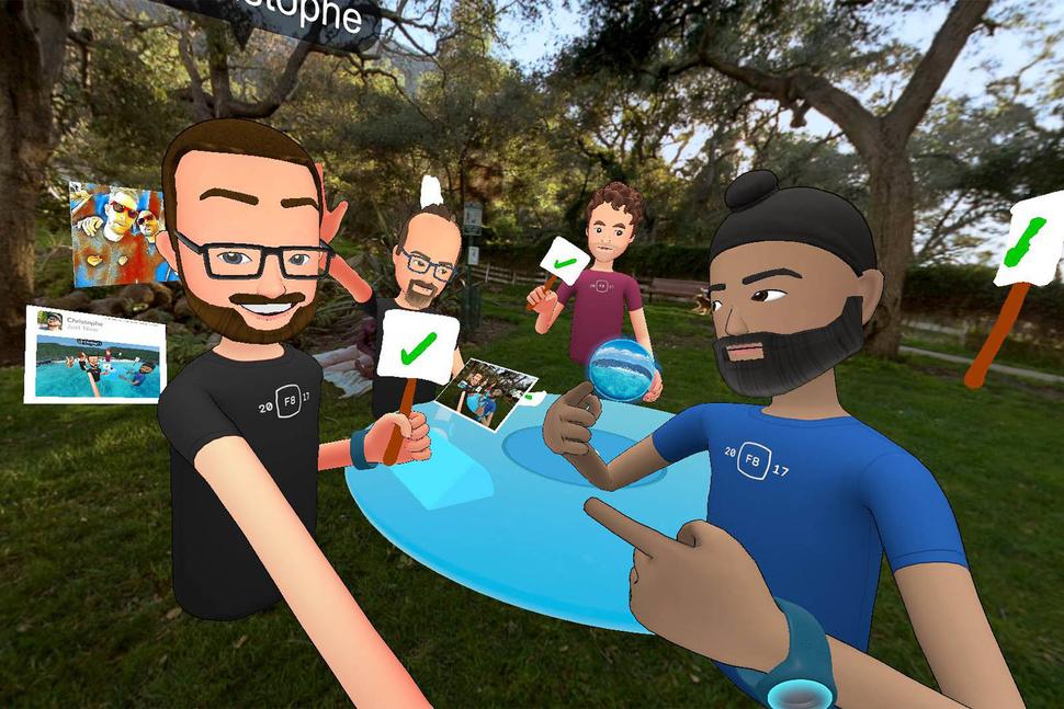 VR facebook spaces
