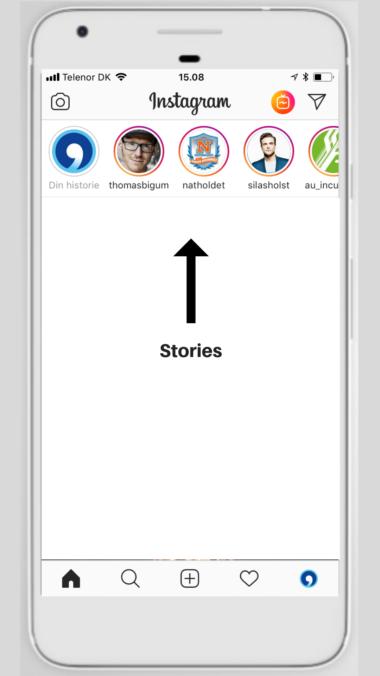 Stories - her er de placeret på Instagram