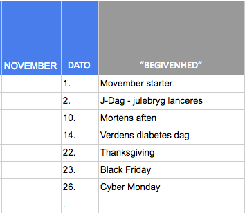 marketing idéer november 18