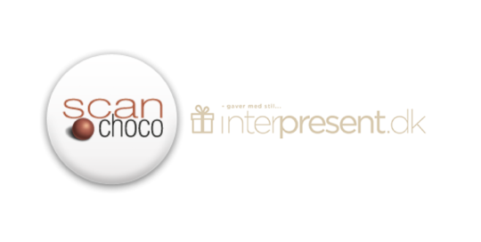 Scanchoco og Interpresent logo er som referencer