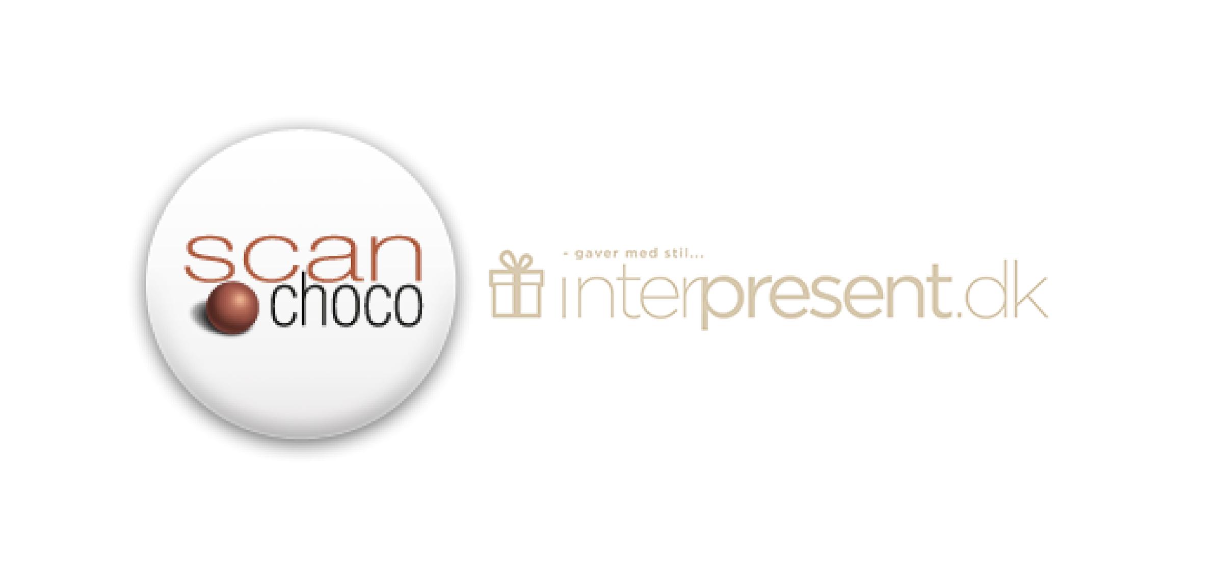 Scanchoco og Interpresent logo er som referencer