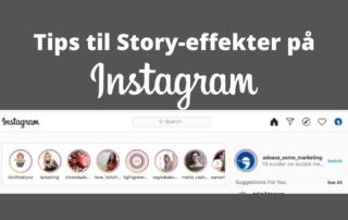 tips til sjove effekter på Instagram stories